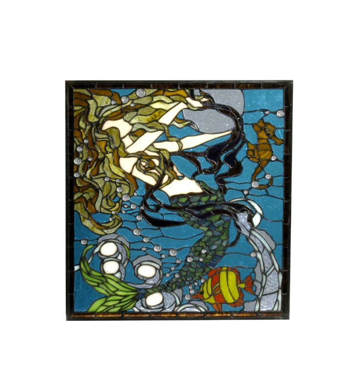 Meyda Tiffany 29719 Tiffany Stained Glass Window Pane from the Mermaid