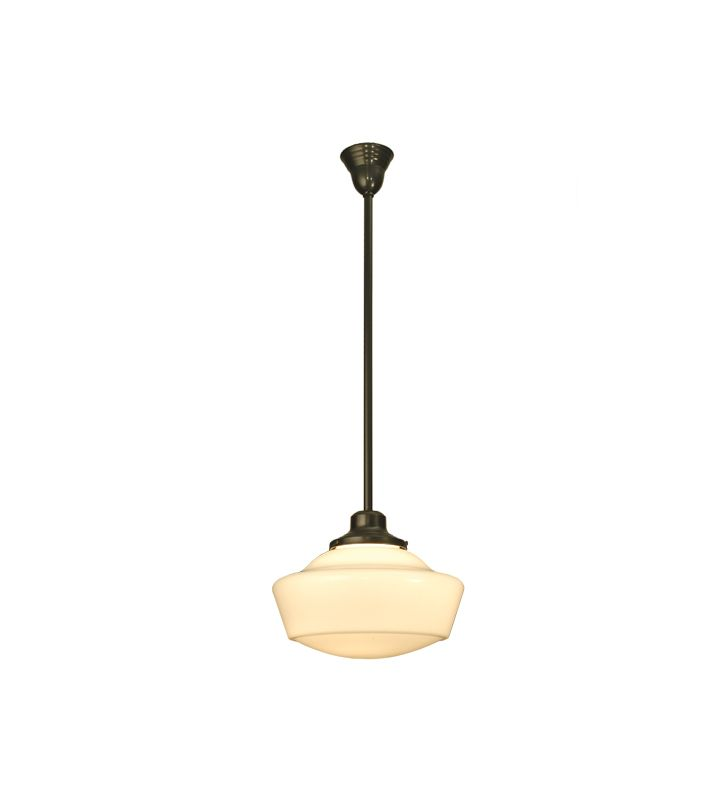 Meyda Tiffany 29944 Single Light Down Lighting Pendant Craftsman Brown