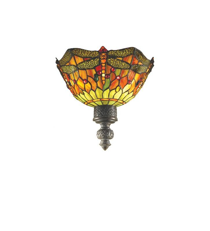 "Meyda Tiffany 30114 13"" Wide 2 Light Wall Sconce with Stained Glass"