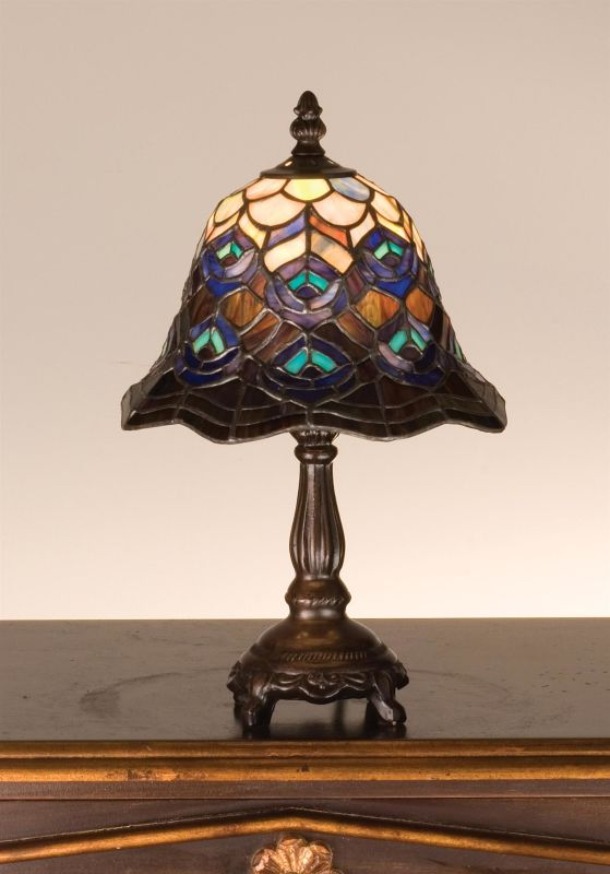 Meyda Tiffany 30317 Stained Glass / Tiffany Accent Table Lamp from the