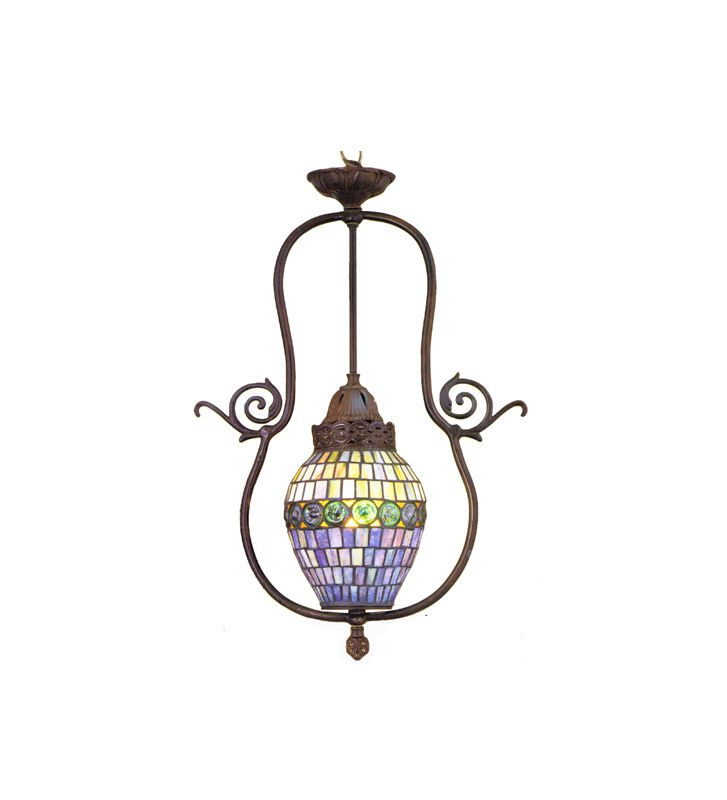 Meyda Tiffany 30381 1 Light Tiffany Pendant Tiffany Indoor Lighting