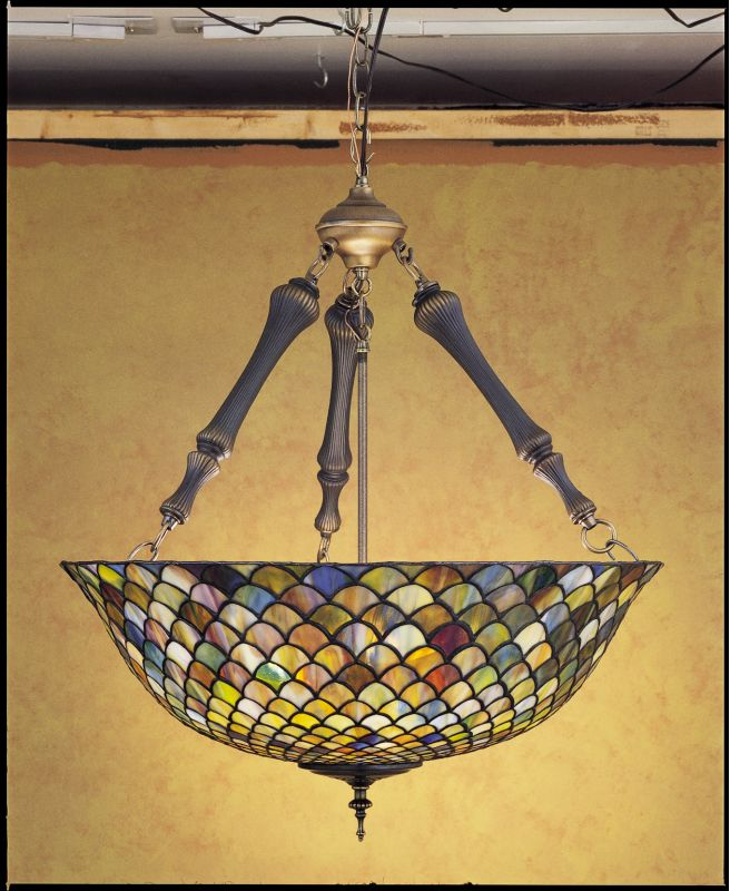 Meyda Tiffany 30466 Stained Glass / Tiffany Bowl Pendant from the