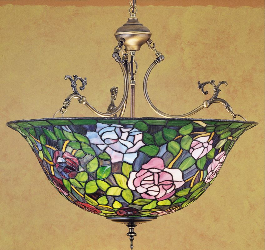 Meyda Tiffany 30469 Stained Glass / Tiffany Bowl Pendant from the