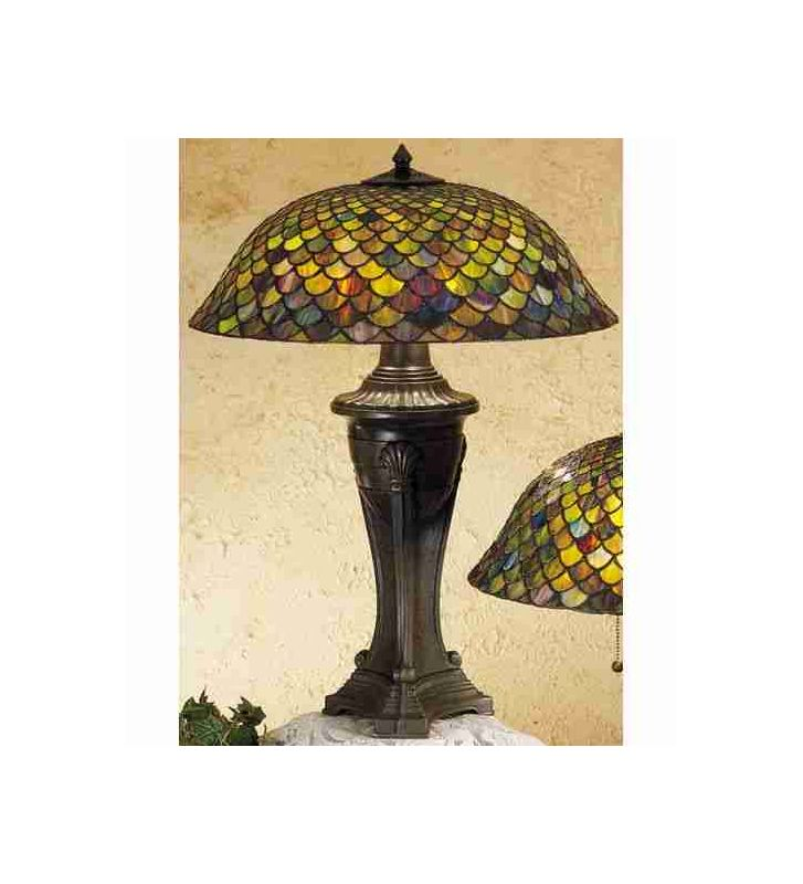 Meyda Tiffany 31115 Stained Glass / Tiffany Table Lamp from the