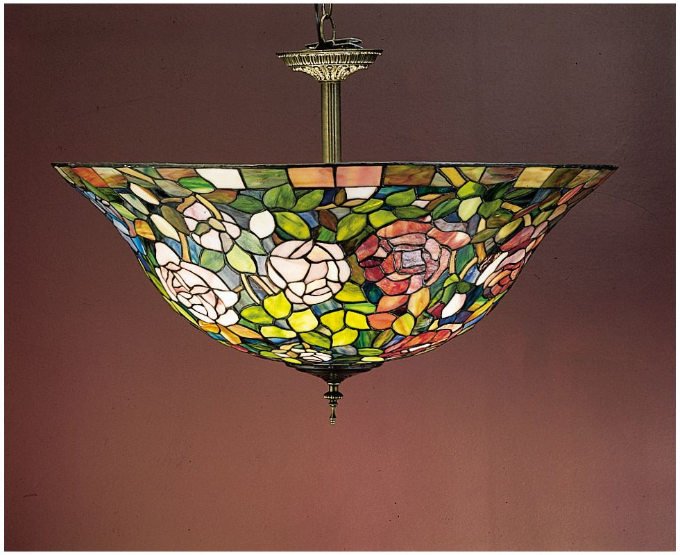 Meyda Tiffany 31123 Stained Glass / Tiffany Semi-Flush Ceiling Fixture