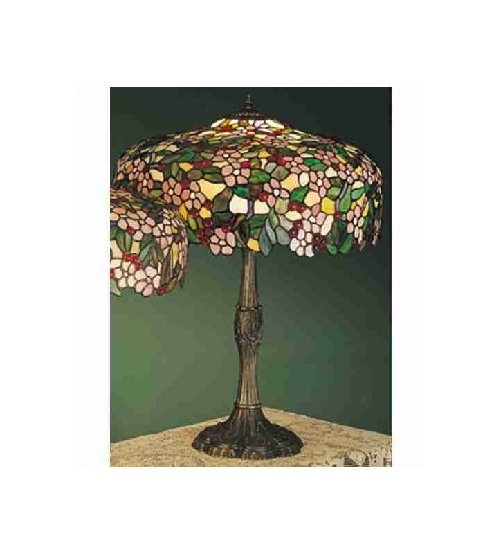 Meyda Tiffany 31148 Stained Glass / Tiffany Table Lamp from the Cherry