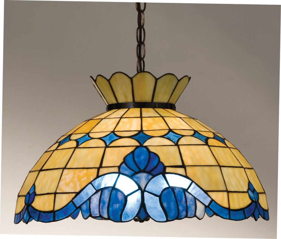 Meyda Tiffany 31202 Stained Glass / Tiffany Down Lighting Pendant from