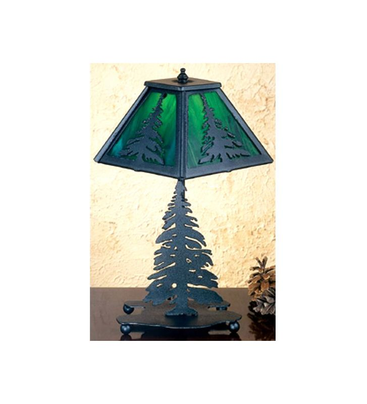 Meyda Tiffany 31402 Accent Table Lamp from the Pine Tree Collection