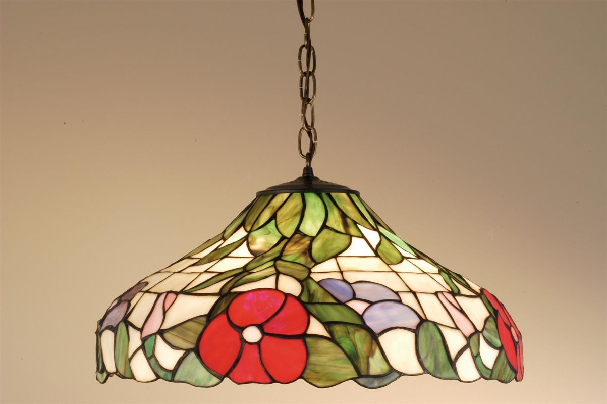 Meyda Tiffany 31622 Stained Glass / Tiffany Down Lighting Pendant from