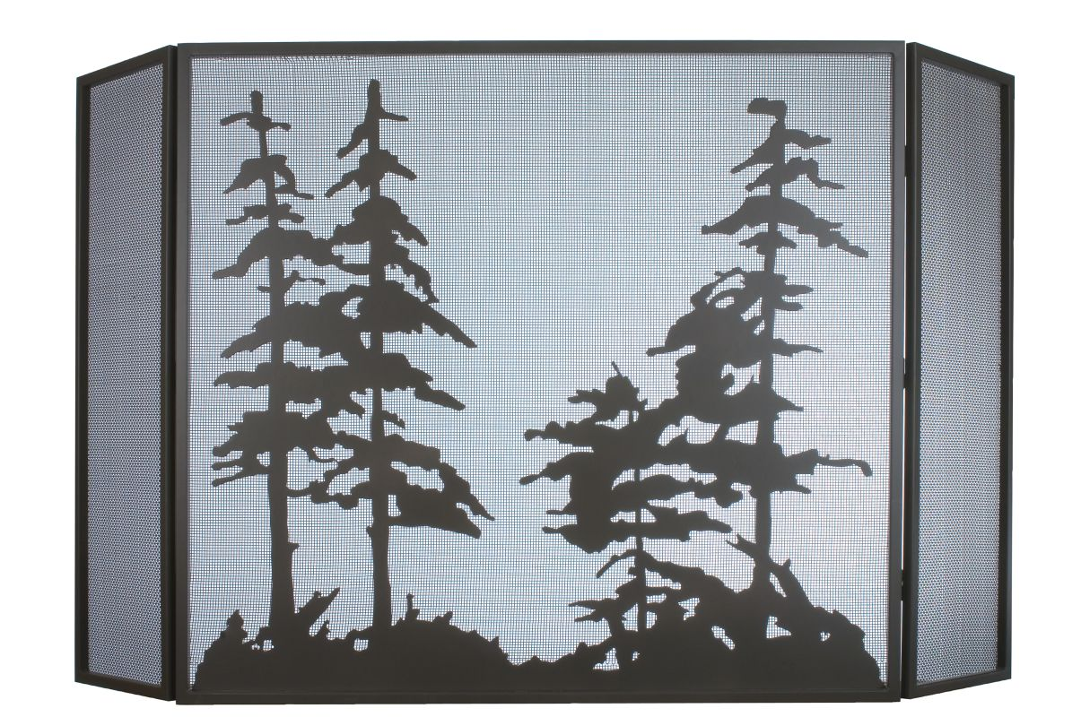 Meyda Tiffany 31676 Mesh Backed Fire screen from the Tall Pines Sale $2200.00 ITEM: bci876779 ID#:31676 UPC: 705696316762 :