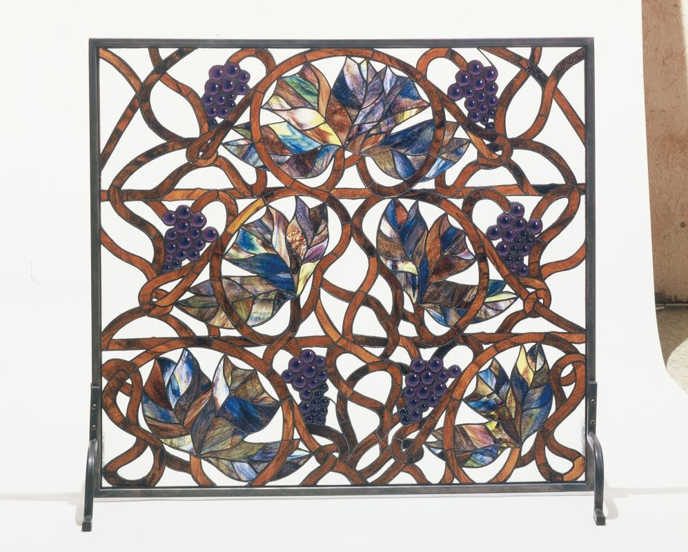 Meyda Tiffany 32221 Accessory Fireplace Screen from the Floral