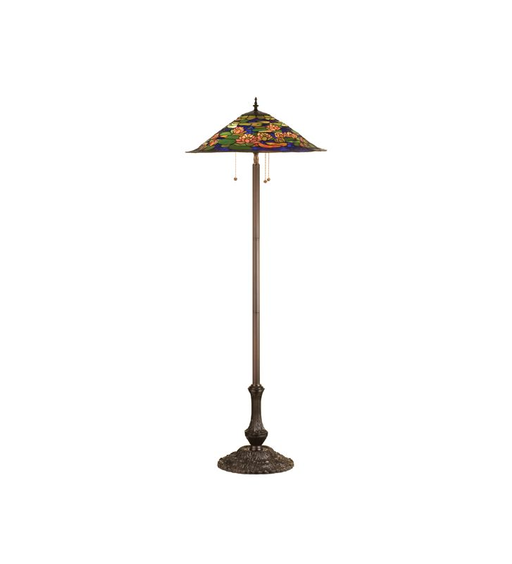 Meyda Tiffany 32301 Stained Glass / Tiffany Floor Lamp from the Pond