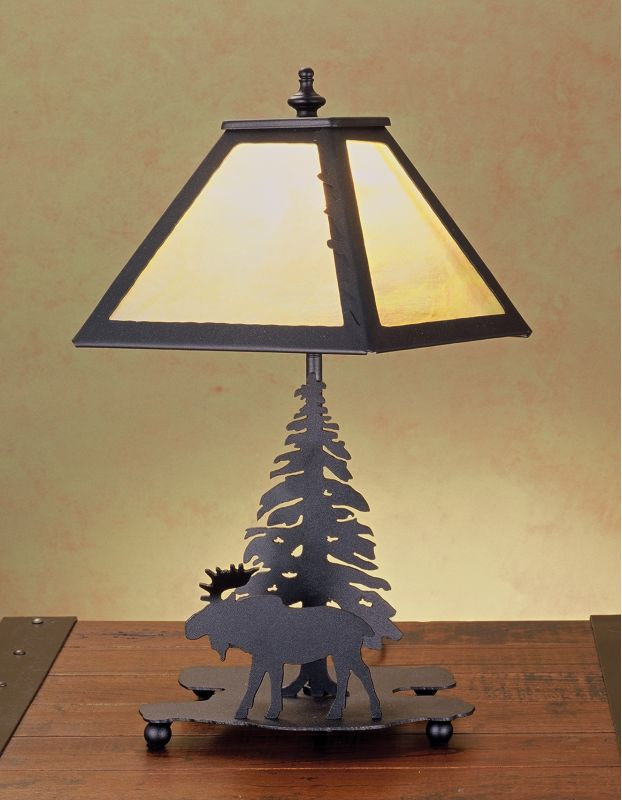 Meyda Tiffany 32467 Accent Table Lamp from the Moose Collection Black