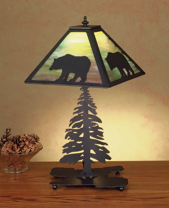 Meyda Tiffany 32552 Table Lamp from the Bear in the Woods Collection Sale $374.00 ITEM: bci256612 ID#:32552 UPC: 705696325528 :