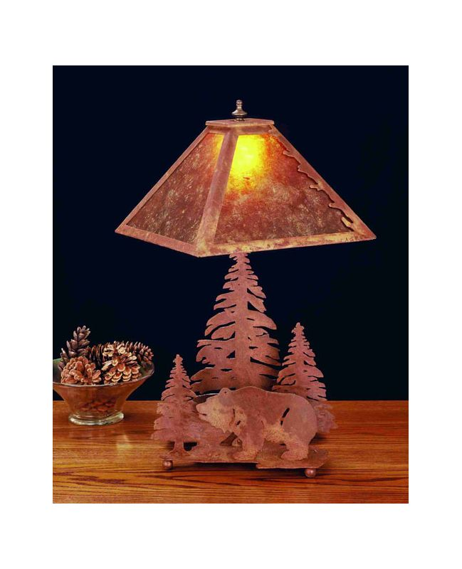 Meyda Tiffany 32554 Table Lamp from the Bear in the Woods Collection
