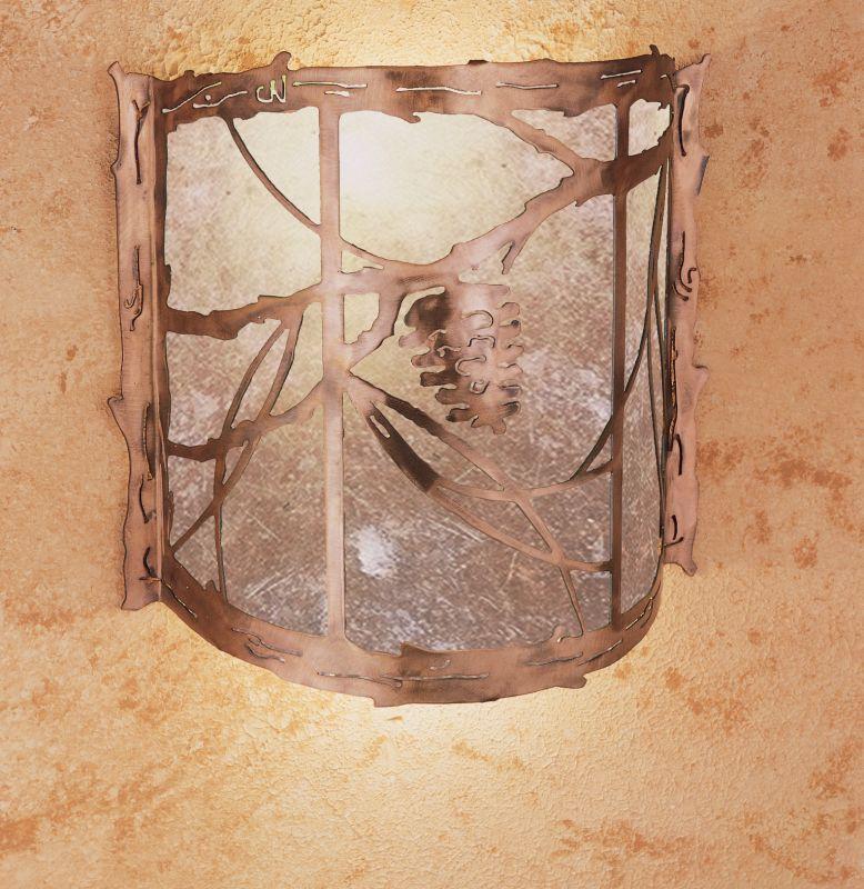 "Meyda Tiffany 32794 Pine Cone 15"" Wide Single Light Wall Washer"