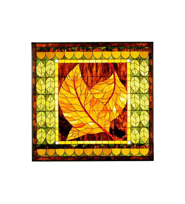 Meyda Tiffany 36116 Tiffany Square Custom Leaf Window Pane from the