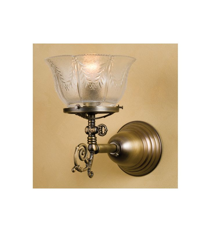 "Meyda Tiffany 36617 5"" Wide Single Light Wall Sconce Antique Brass"
