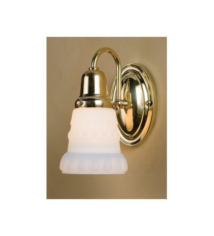 "Meyda Tiffany 36635 5"" Wide Single Light Wall Sconce Polished Brass"