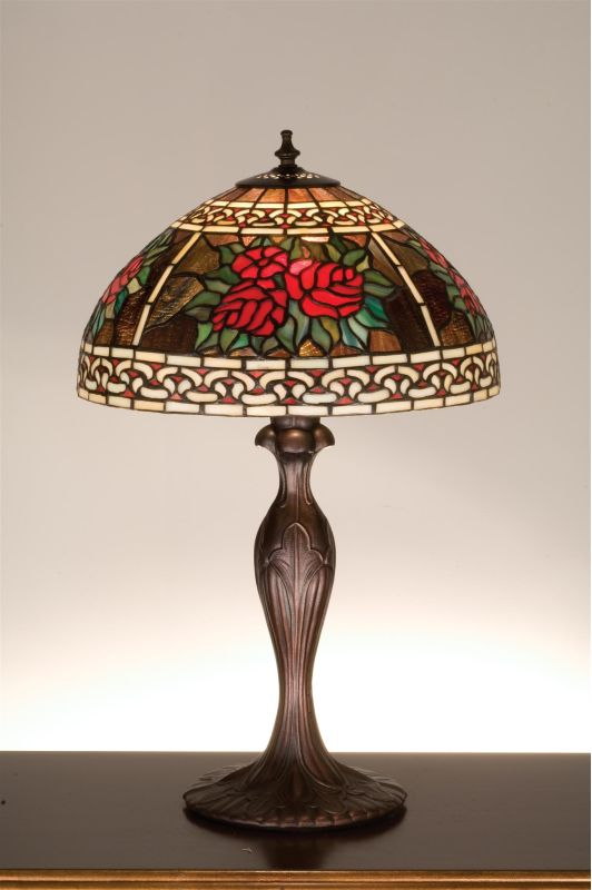 Meyda Tiffany 37789 Stained Glass / Tiffany Table Lamp from the Roses