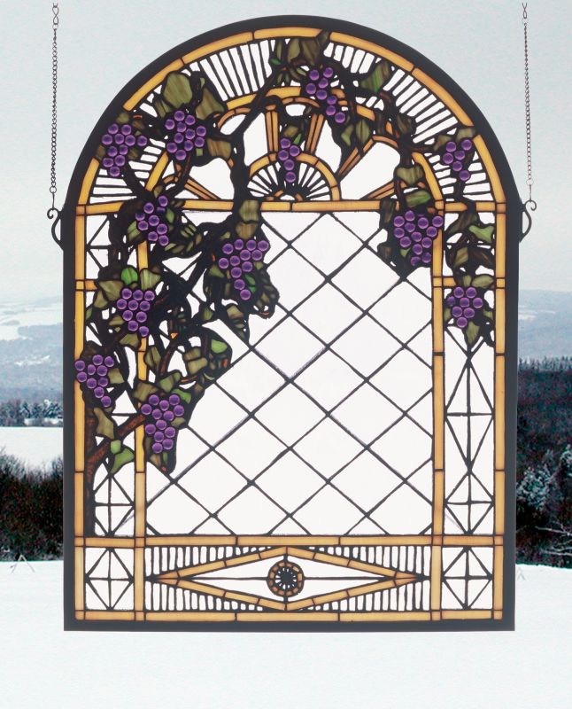 Meyda Tiffany 38656 Stained Glass Tiffany Window from the Country