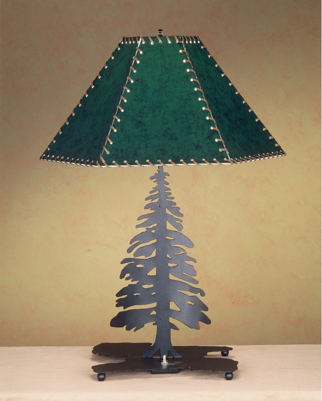 Meyda Tiffany 38884 Table Lamp from the Pine Tree Collection Hunter
