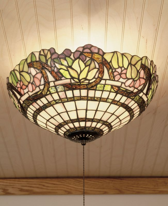 Meyda Tiffany 47608 Stained Glass / Tiffany Flushmount Ceiling Fixture