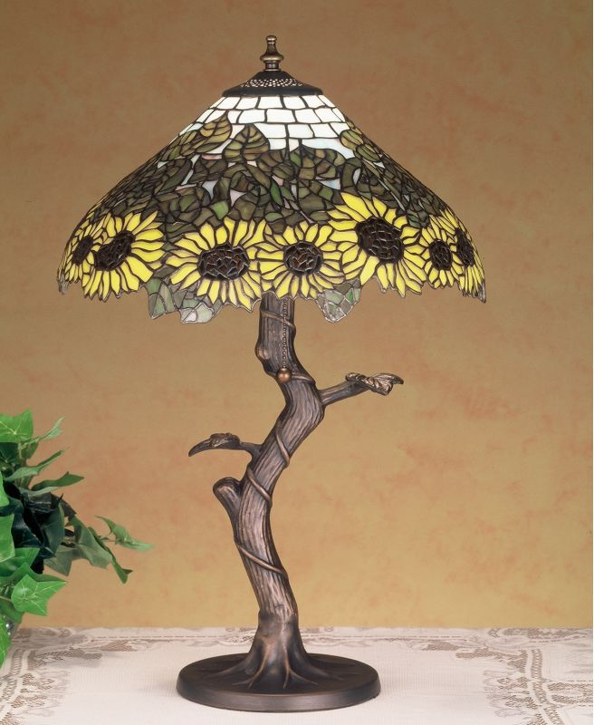 Meyda Tiffany 47632 Stained Glass / Tiffany Table Lamp from the Wild