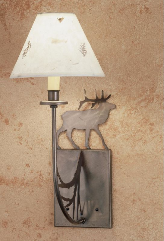 "Meyda Tiffany 47762 Elks Club 8"" Wide Single Light Wall Sconce Antique"