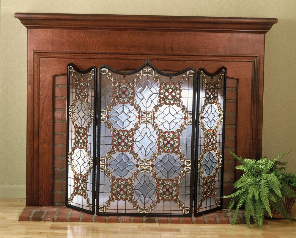 Meyda Tiffany 48092 Stained Glass / Tiffany Fireplace Screen from the