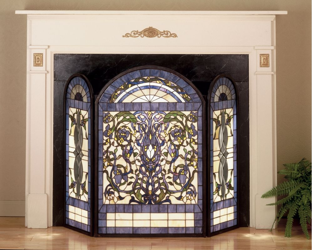 Meyda Tiffany 48103 Stained Glass / Tiffany Fireplace Screen from the