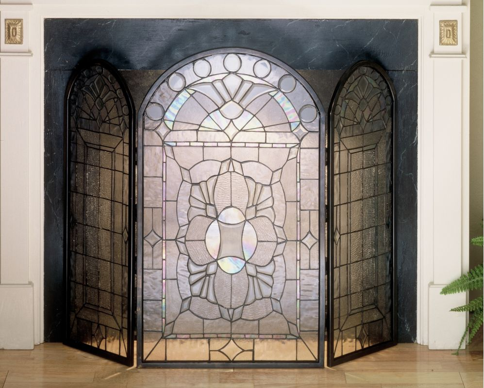 Meyda Tiffany 48104 Stained Glass / Tiffany Fireplace Screen from the