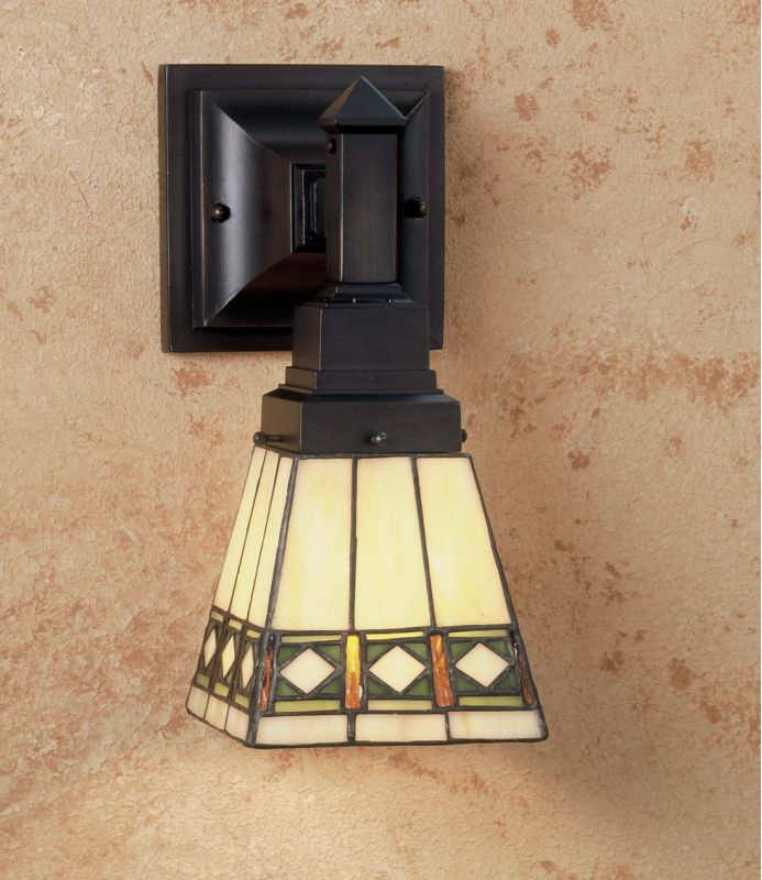 "Meyda Tiffany 48191 Diamond Mission 7"" Wide Single Light Wall Sconce"