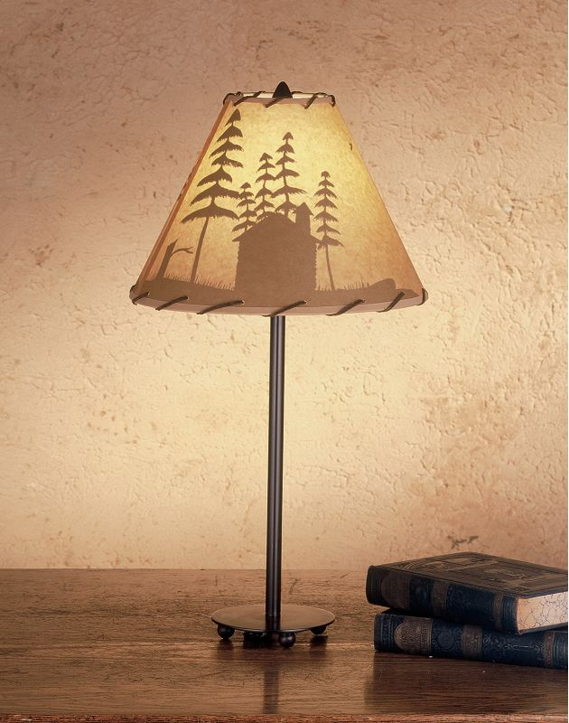 Meyda Tiffany 48463 Table Lamp from the Parchment & Rawhide Collection