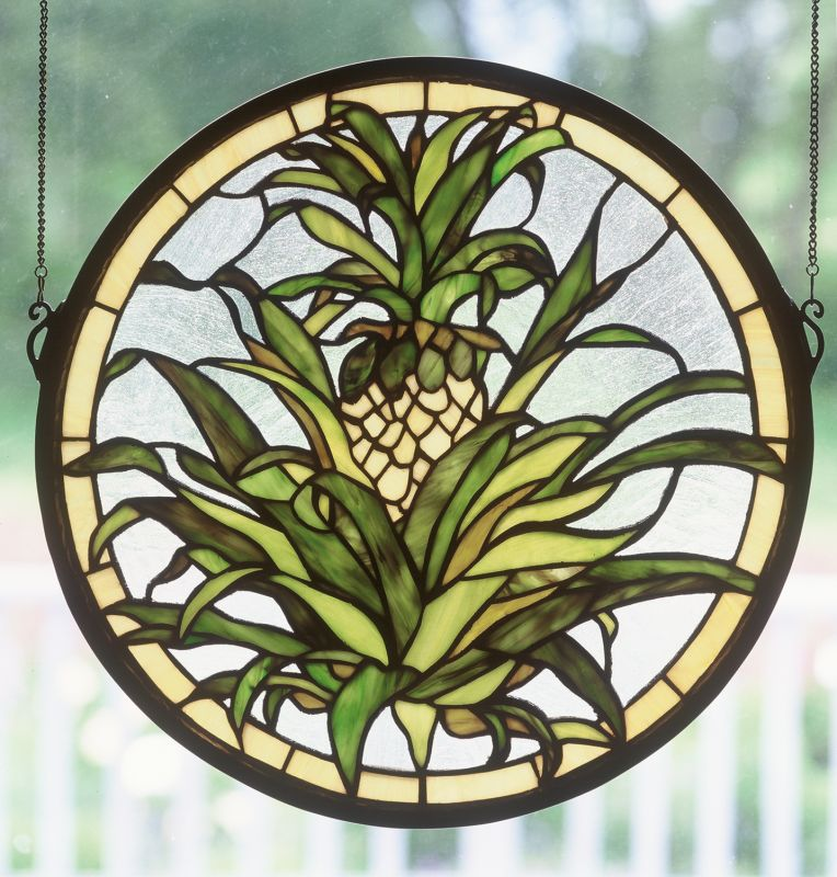 Meyda Tiffany 48550 Stained Glass Tiffany Window from the Country