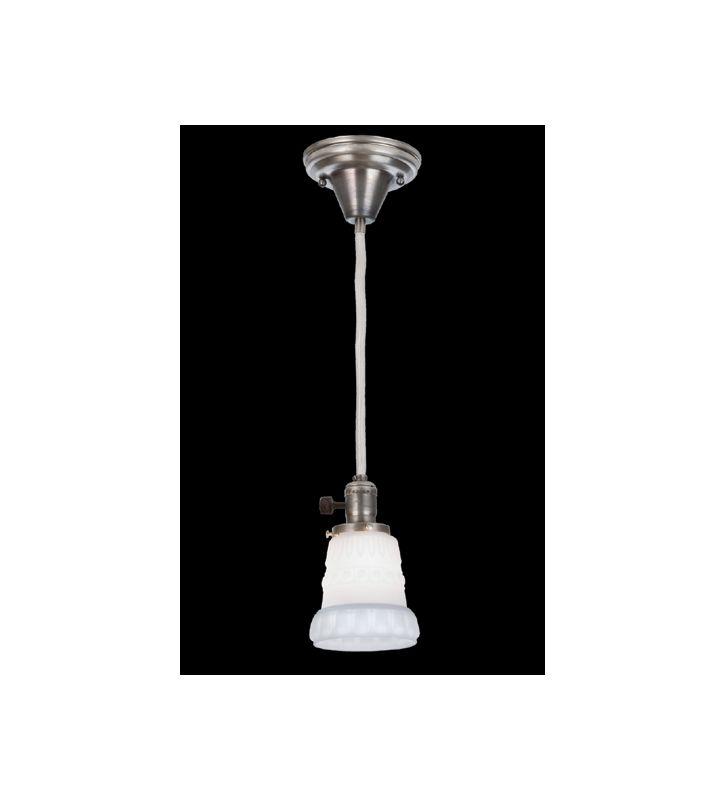 "Meyda Tiffany 48799 Single Light ""Chelsea"" Mini Pendant Antique Nickel"
