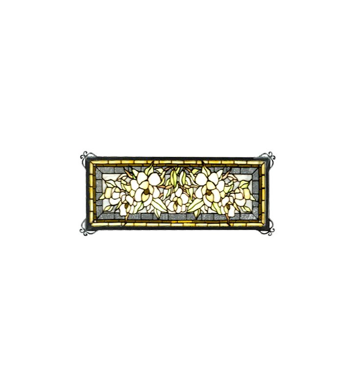 Meyda Tiffany 48818 Tiffany Rectangular Stained Glass Window Pane from