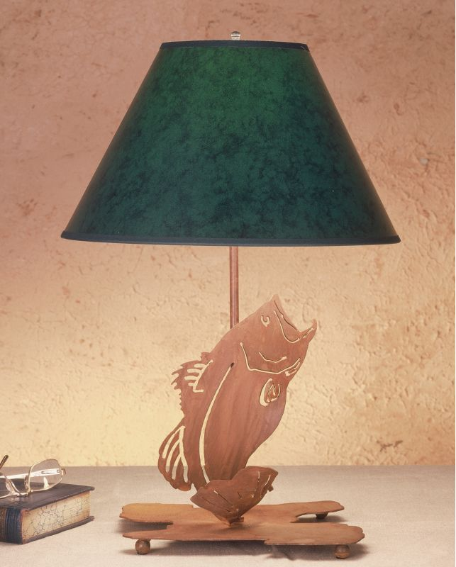 Meyda Tiffany 49791 Table Lamp from the Fish Du Jour Collection Hunter
