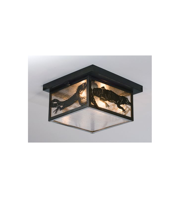 Meyda Tiffany 50121 Two Light Flush mount Ceiling Fixture Indoor