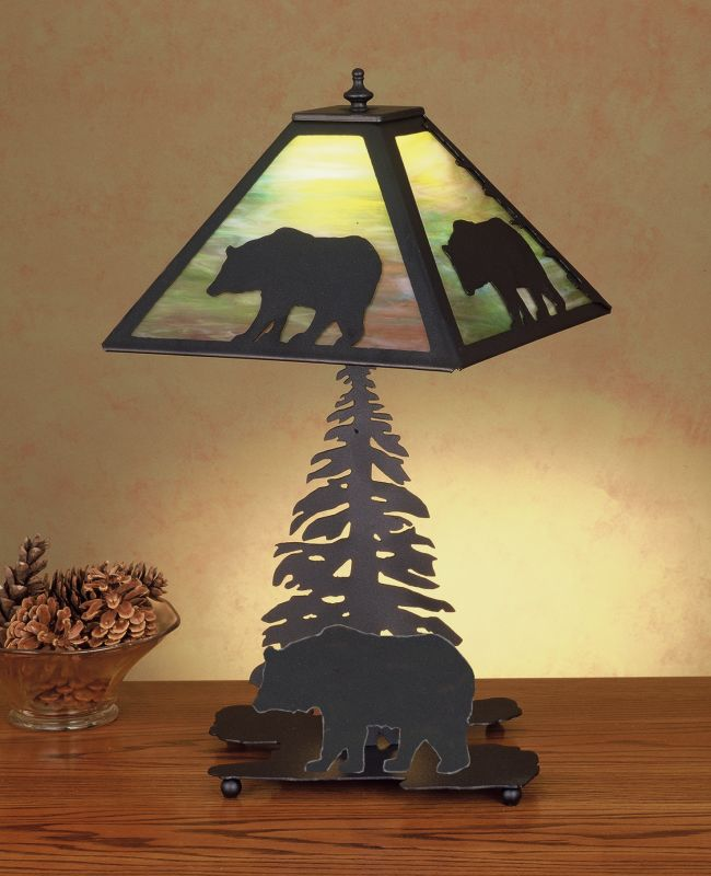 Meyda Tiffany 50398 Accent Table Lamp from the Bear in the Woods