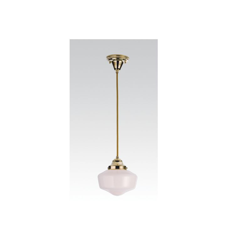 "Meyda Tiffany 50648 Single Light ""Schoolhouse"" Mini Pendant Polished"