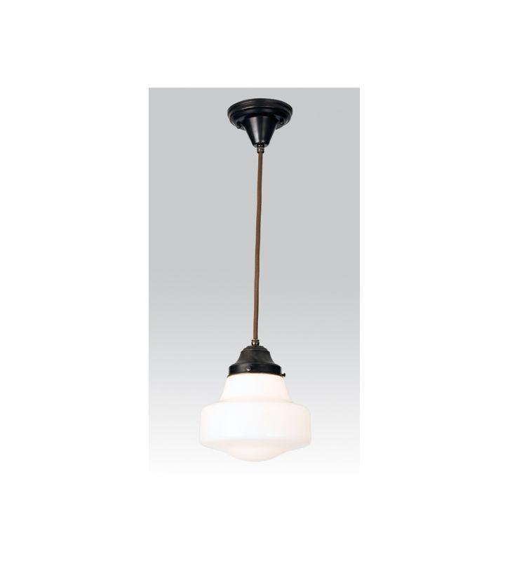 "Meyda Tiffany 50649 Single Light ""Schoolhouse"" Mini Pendant Craftsman"