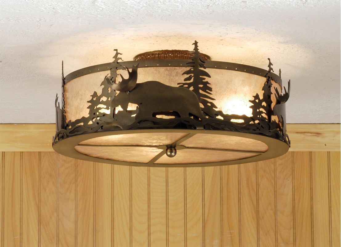 Meyda Tiffany 51095 Semi-Flush mount Ceiling Fixture from the Moose