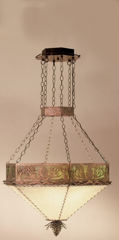 Meyda Tiffany 51211 Bowl Pendant from the Pine Cone Collection Antique