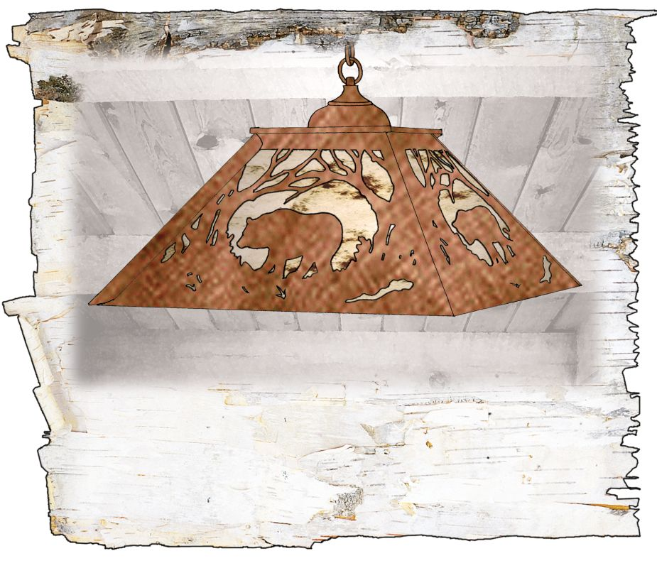 Meyda Tiffany 51489 Down Lighting Pendant from the Bear in the Woods
