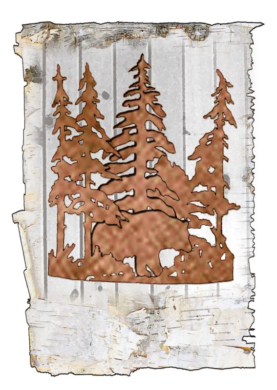 "Meyda Tiffany 51493 Bear in the Woods 11"" Wide Single Light Wall"