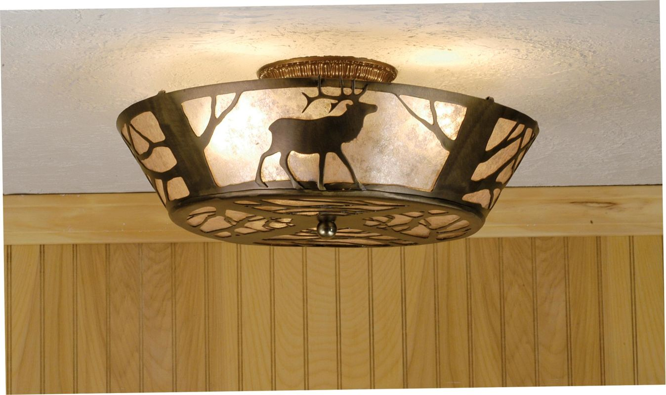 Meyda Tiffany 51495 Semi-Flush Ceiling Fixture from the Elks Club Sale $580.80 ITEM: bci264685 ID#:51495 UPC: 705696514953 :