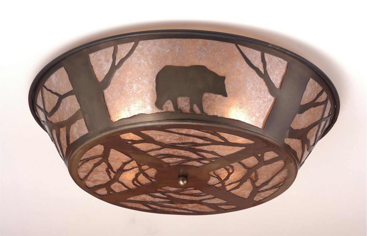 Meyda Tiffany 51497 Semi-Flush Ceiling Fixture from the Bear in the Sale $869.00 ITEM: bci264687 ID#:51497 UPC: 705696514977 :