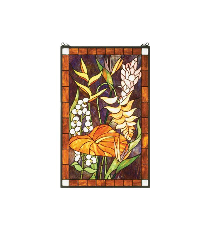 Meyda Tiffany 51539 Tiffany Rectangular Stained Glass Window Pane from Sale $498.60 ITEM: bci877212 ID#:51539 UPC: 705696515394 :