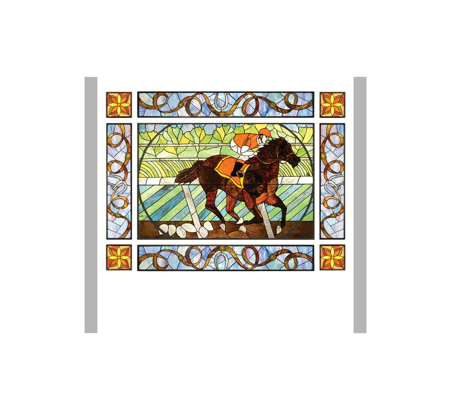 Meyda Tiffany 51638 Tiffany Nine Section Stained Glass Window from the